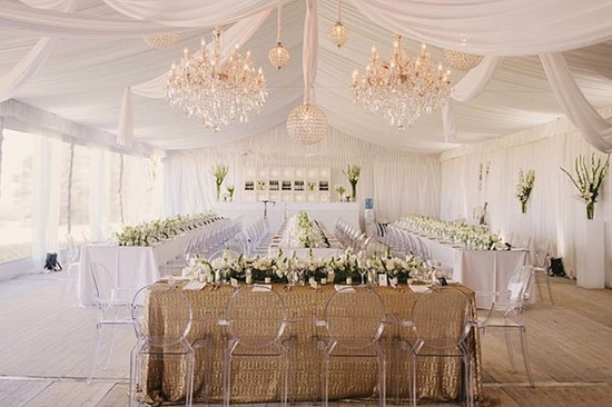 White Drapes in Tent