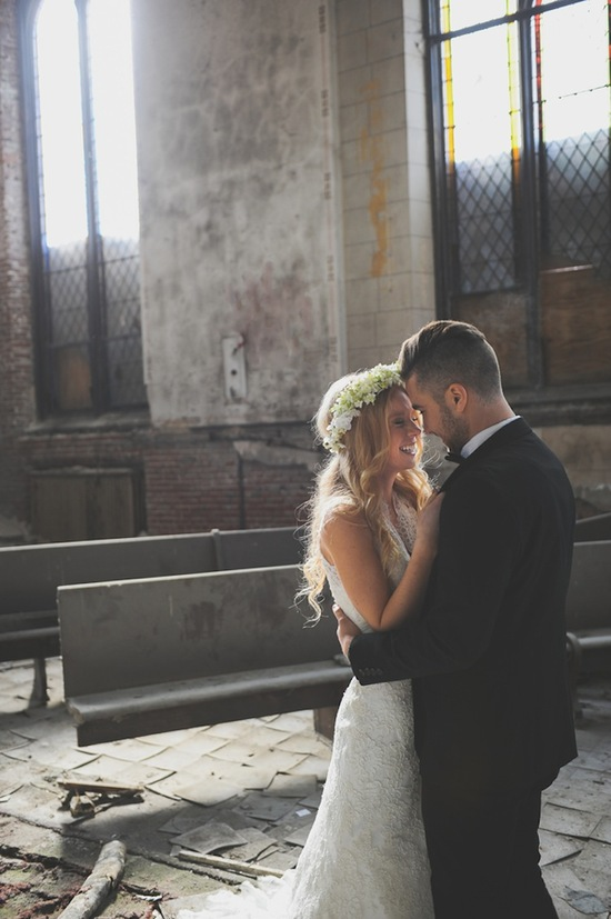 photo of Captivating Love in a Beautiful Abandoned Church