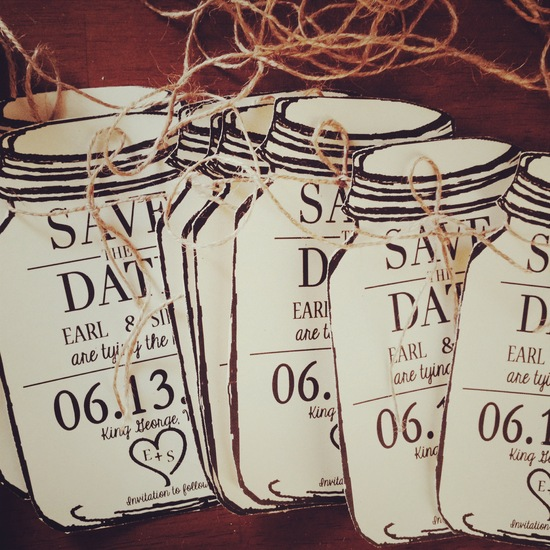 Save the date personalized mason jar