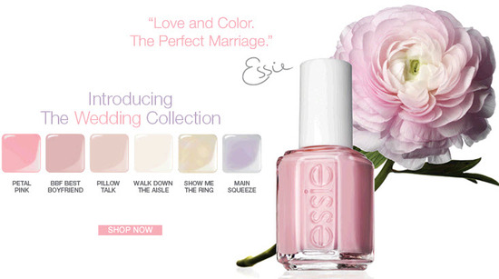 Adore the 2010 nail polish wedding collection from Essie