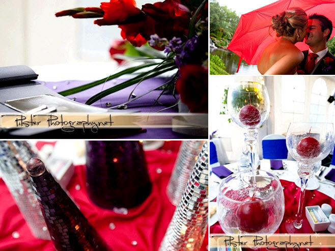 Red-purple-royal-blue-outdoor-wedding-red-parasol-bride-groom-table-reception-decor.full