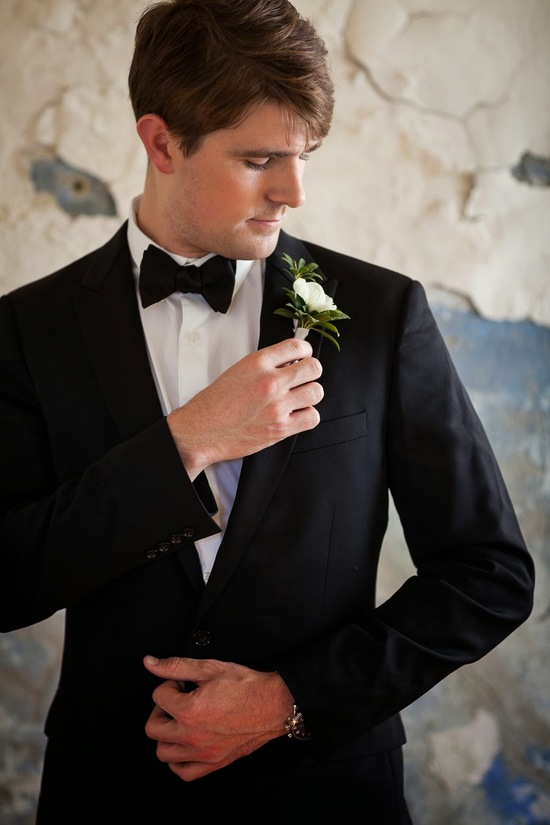 Dapper Groom with Flower