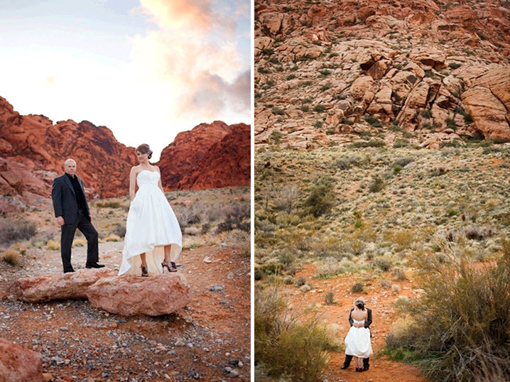 Stunning-pre-wedding-photography-session-in-red-canyon-desert-orange-blue-purple-sunset_orange-red-canyon-rocks-white-strapless-wedding-dress.full