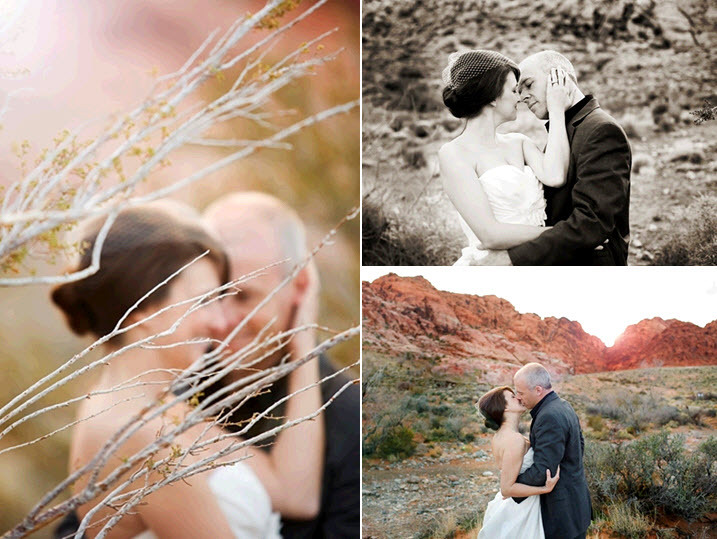 Beautiful-outdoor-pre-wedding-photo-session-red-rock-canyon-desert-white-wedding-dress-birdcage-veil.full