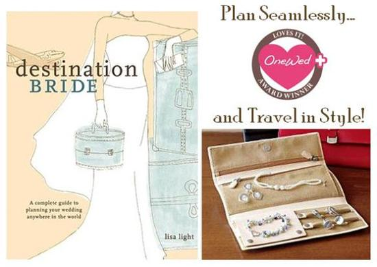 This book and jewelry roll are perfect for the destination bride.