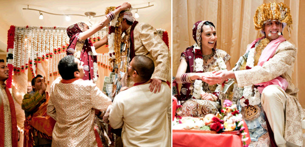 Bride reaches henna-covered hand out as traditional east Indian ...