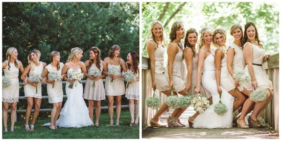Bridesmaids Photos Outside