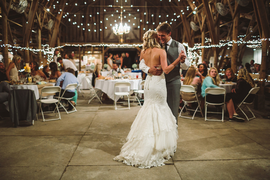 First Dance Under Twinkling Lights