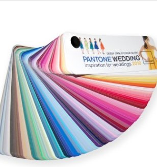 The Dessy Pantone Color Fan is useful for all your wedding planning needs