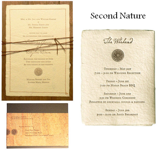 Inspired by nature, these wedding invitations are chic and beautiful