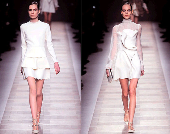 Gorgeous and flirty mini dresses from Valentino- perfect for a city hall wedding!