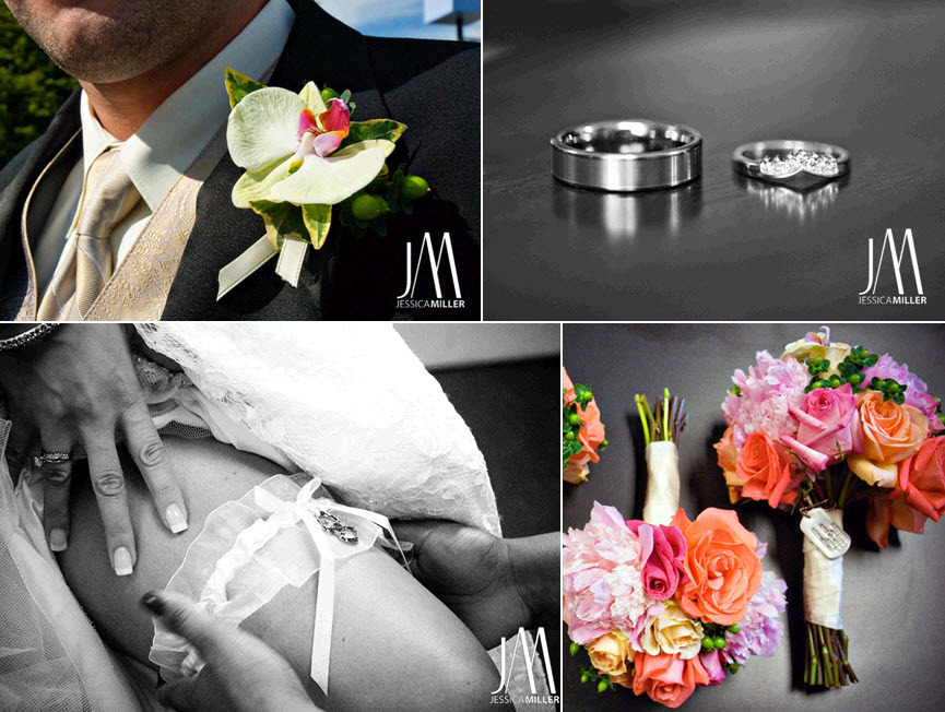 Groom-wears-classic-tux-gold-champagne-tie-brides-white-garter-strapless-white-wedding-dress.full