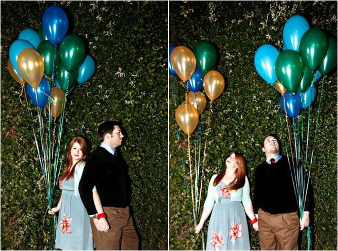 Retro-1940s-vintage-engagement-session-blue-green-gold-balloons.full