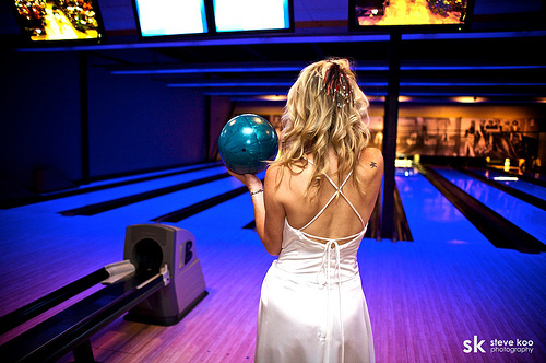 Get your bridal party, closest friends and family together for some pre-wedding bowling!