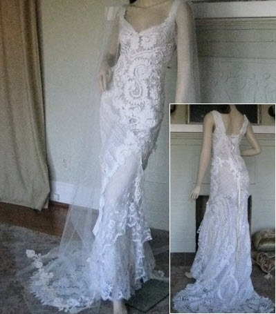 A true piece of art- antique collage wedding dress