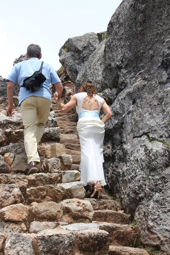 wedding inca stairs