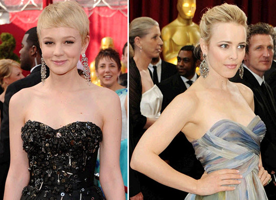Stars like Rachel McAdams and Carey Mulligan donned statement-making chandelier earrings at the Osca