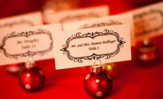 Escort Card Ornaments