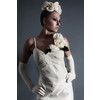 Vintage-classic-bridal-look-sheath-style-wedding-dress-silk-flower-applique-chantilly-lace.square