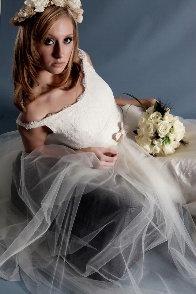 photo of Bride Chic: White Silks And Lace For A Bombshell Bridal Look