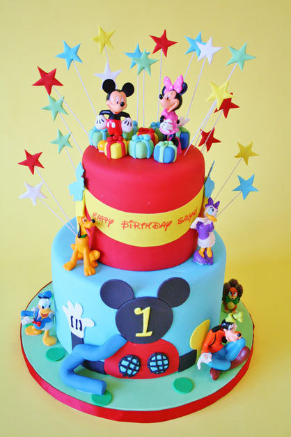 First-Birthday-Cakes-New-Jersey-Bright-Colors-Custom-Cakes