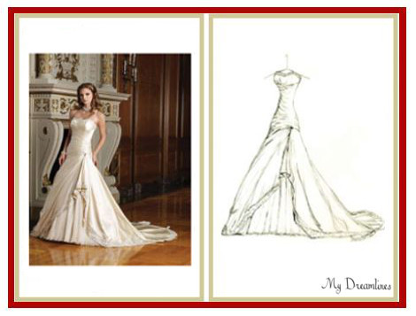 photo of My Dreamlines Wedding Dress Sketch
