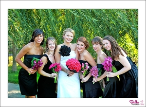 photo of Top 2010 Wedding Trends: Bright Color, Black Backdrop