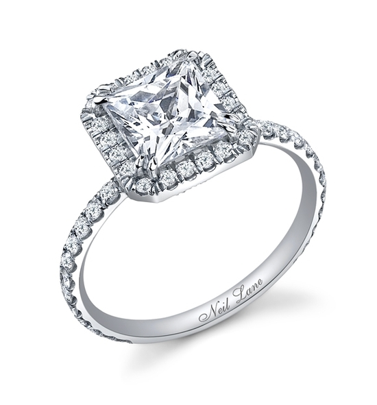 Platinum princess-cut diamond engagement ring that Jake Pavelka gave to Vienna on The Bachelor last