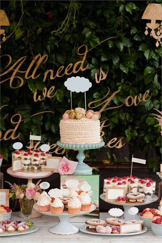 Signage for Dessert Table