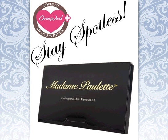 The Madame Paulette professional cleaning kit is perfect for your wedding dress cleaning needs.