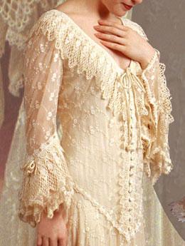 Western style martin mccrea beige wedding dress for Lace western wedding dresses