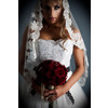 Amy-jo-tatum-couture-wedding-dress-white-lace-wedding-dress-dark-red-rose-bouquet.square
