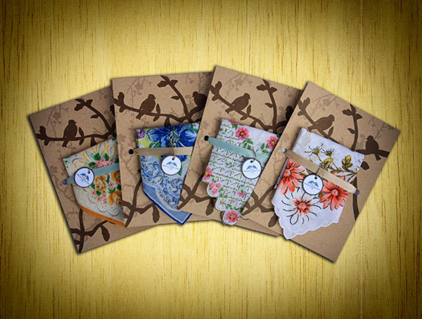 Handkerchiefs-save-the-dates-vintage-chic-keepsake-floral-beautiful-design-details.full