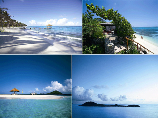 The beautiful Petite St. Vincent Resort on a private island of the Grenadines