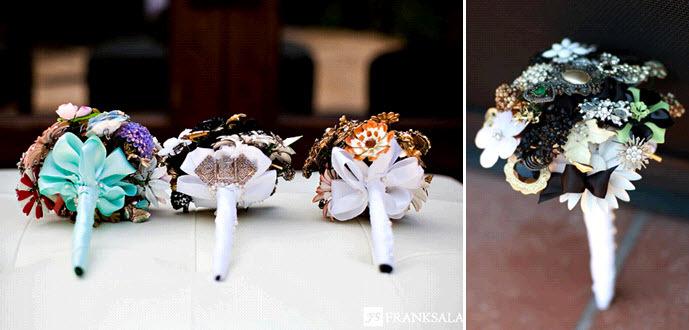Fantasy-florals-brooch-bridal-bouquets-vintage-chic-black-white-turquoise-purple-bridesmaids.full