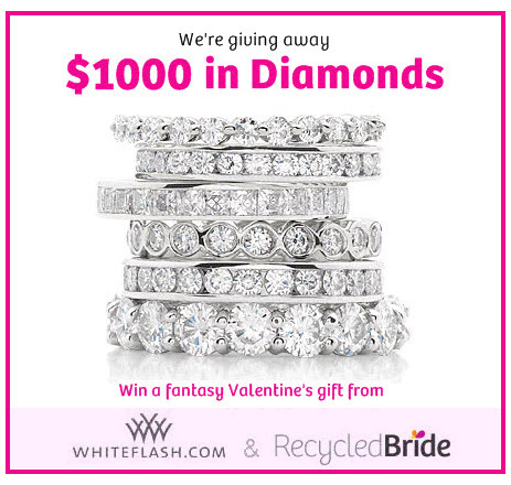 Recycled Bride is granting one bride-to-be a $1000 Fantasy Diamond Shopping Spree!