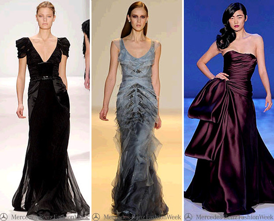 Beautiful dresses off the New York Fashion Week runway!