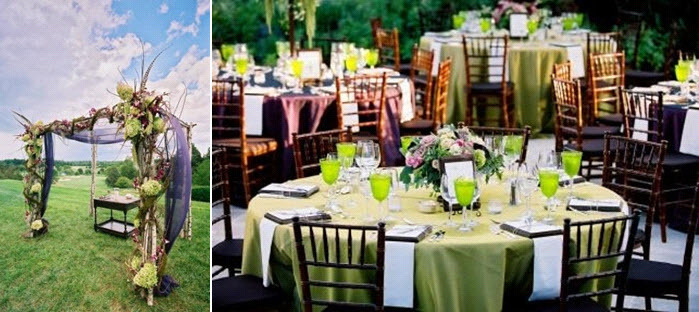 Chic-outdoor-whimsical-wedding-lime-green-sage-green-wood-rose-pink-tablescape-chuppa.full