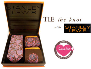 photo of Beautiful Stanley Lewis designer tie and sock set, presented in a seductive handmade gift box