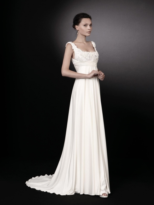 Romantic and whimsical, this Peter Langner white wedding dress is a dream