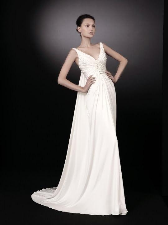 Peter-langner-wedding-dresses-deep-v-neck-gathered-floral-applique-down-center-of-bust-white-wedding-dress.full