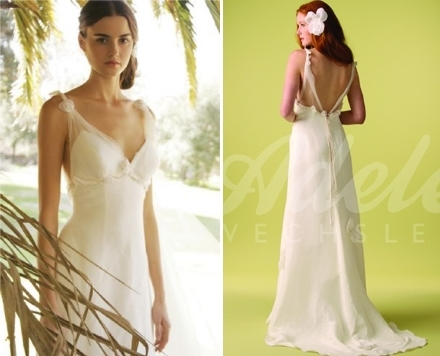 Adele Wechsler wedding dress made from organic hemp silk- romantic, unfussy, and eco-friendly!