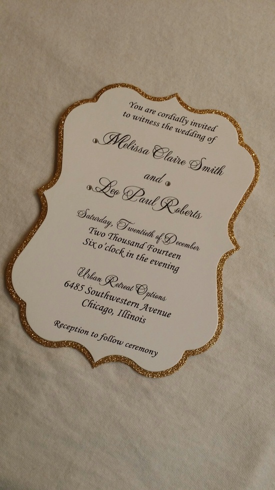 die wedding invitation