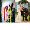 Colorful-outdoor-wedding-at-vineyard-hawaiian-luah-theme-leis-bride-groom-under-arch.square
