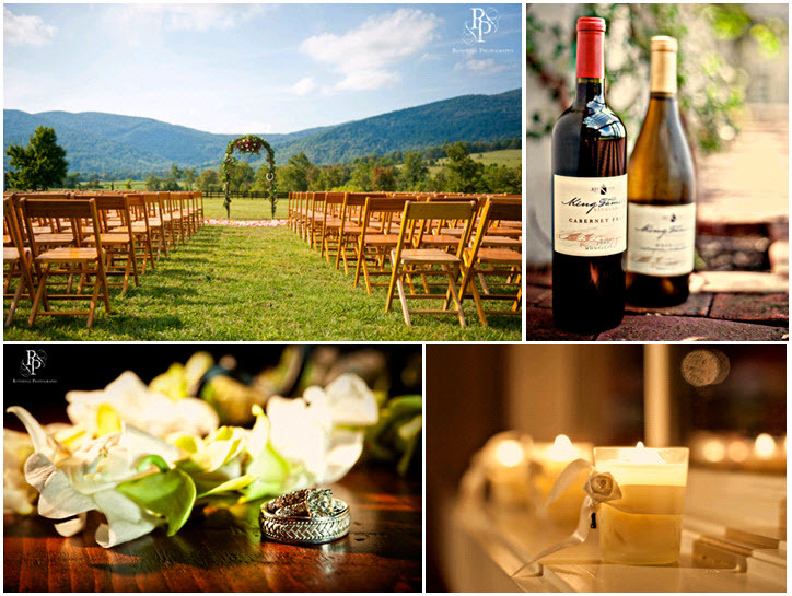 Outdoor-romantic-wedding-at-vineyard-ivory-orchids-personalized-wine-candles.full