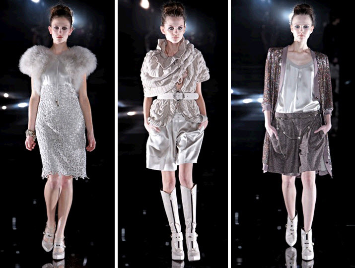 Ny-fashion-week-escada-runway-vintage-chic-inspiration-ivory-cream-faux-fur-stole-ruffled-shrug-sequined-cardigan.full