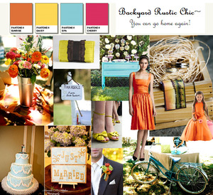 photo of Dessy Style Board: Backyard Rustic Chic
