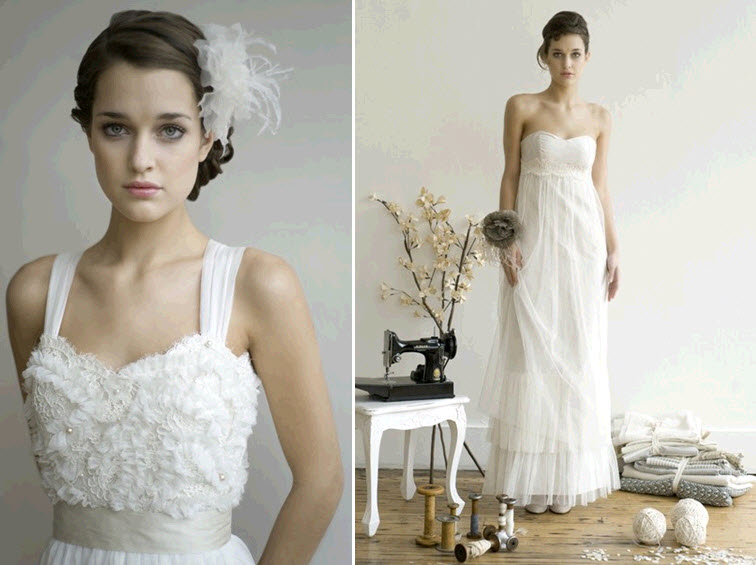 Romantic old world wedding dresses by elizabeth dye for Romantic wedding dress designers