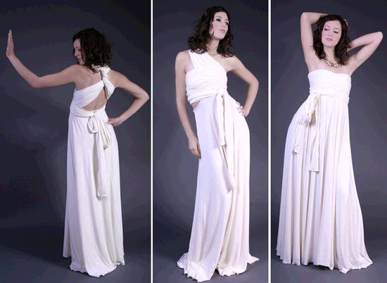 Three-in-one Chameleon wedding dress made from eco-friendly fabrics