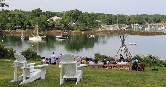 Have your wedding on our waterfront lawn